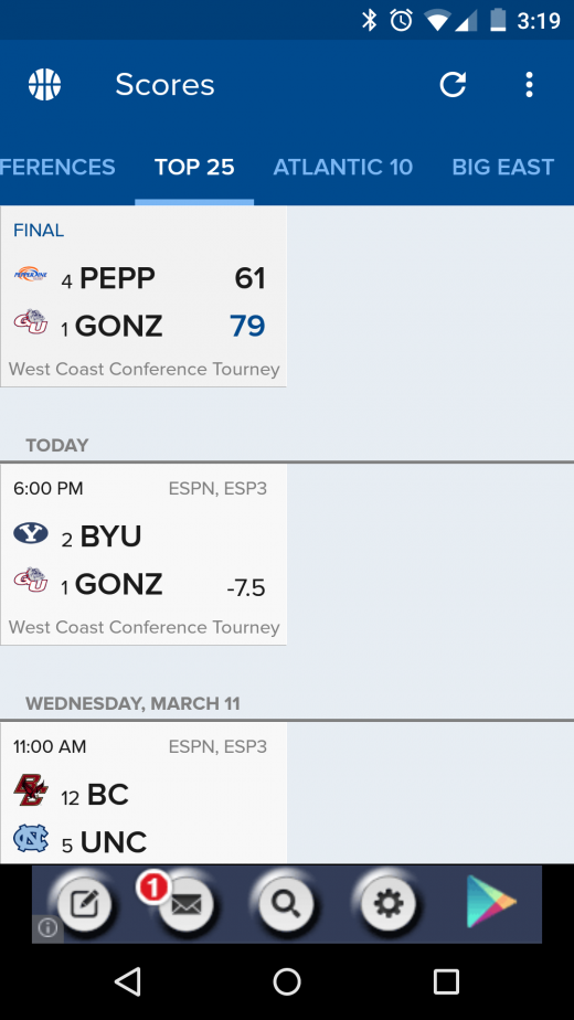 cbs sports 520x924 The 15 best Android apps that use material design