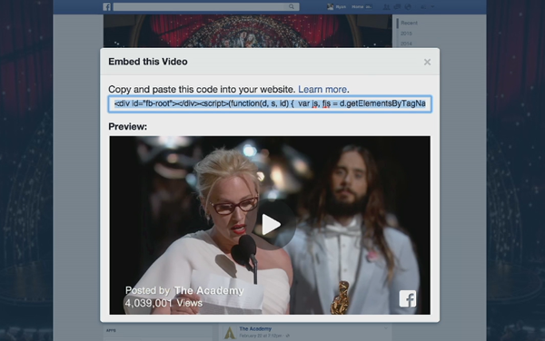 fb embed video Facebook introduces an embeddable video player