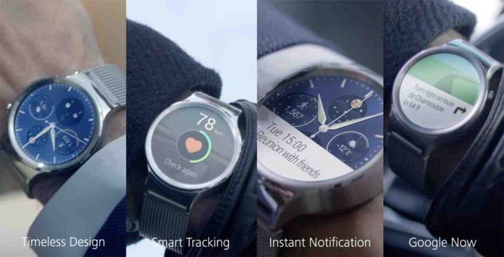huaweiwatchfeatures 730x372 Huawei Watch is powered by Android Wear, and its stunning
