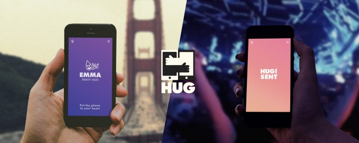 hug splitscreen Party logo 730x292 Hug for iPhone wants to replace emoji with something you can feel