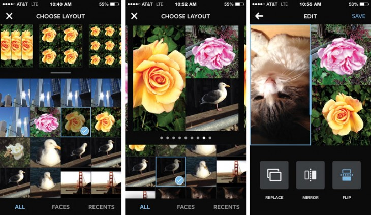layout1 730x423 Hands on: Instagrams new Layout collage app for iOS is quick and easy, but lacks that wow factor