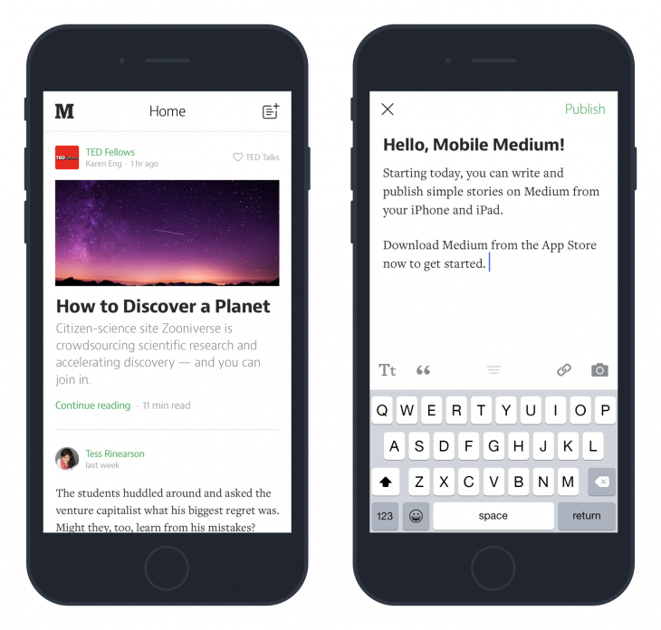 medium ios update editing 730x696 Medium for iOS now lets you write and publish directly from the app