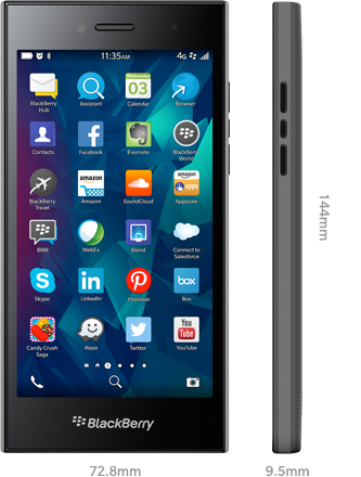specs hero BlackBerry unveils its mid range 4G all touch Leap smartphone