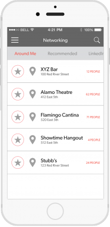 sxsw aroundme 220x452 SXSWs official app will hook up with 1,000 iBeacons across Austin