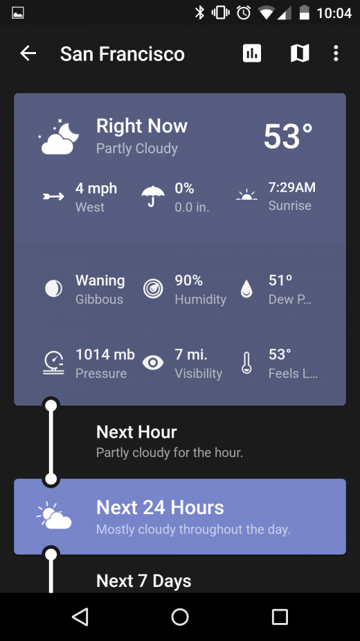 weather timeline 520x924 The 15 best Android apps that use material design