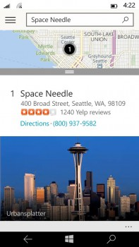 7 Space Needle detail card 197x350 Microsofts new Maps app for Windows 10 phones combines the best of Bing and HERE maps