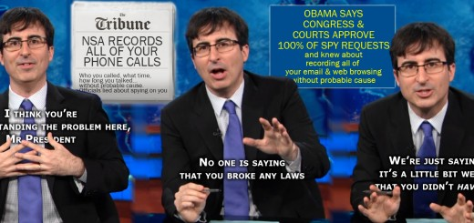 John Oliver on the NSA Recording Your Phone and E-Mail
