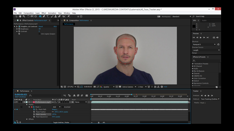 how to change face in video with adobe after effects