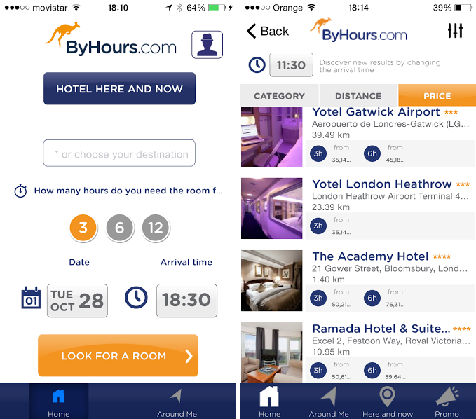 ByHours story ByHours now lets business travellers book a hotel room in London for 3, 6 or 12 hours