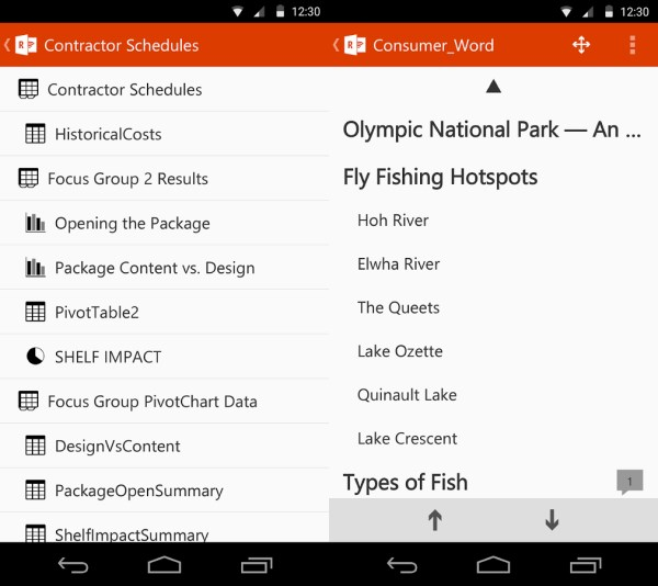 Excel Word Microsofts new app lets you control Powerpoint presentations with your Android device