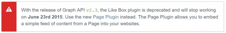 Facebook Like Box Death 730x109 Facebook is retiring its Like Box plugin on June 23