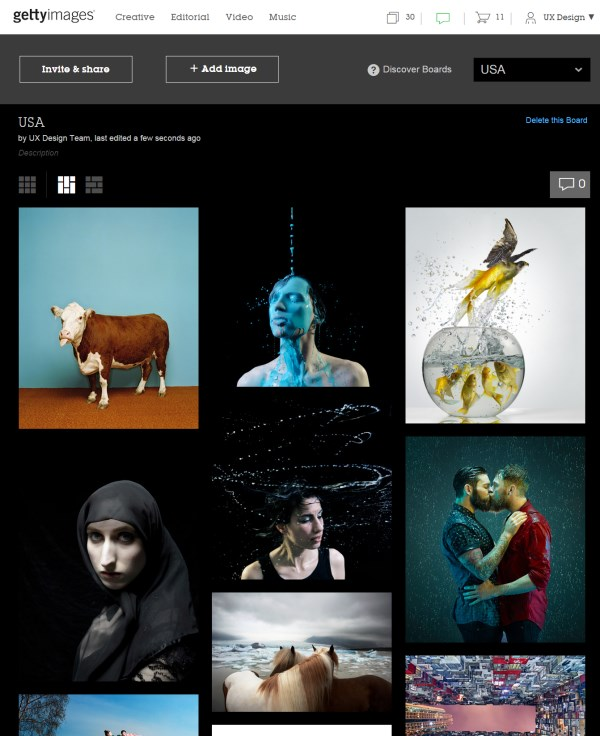 Getty Images Boards on desktop Getty Images adds Pinterest style Boards for easier photo curation