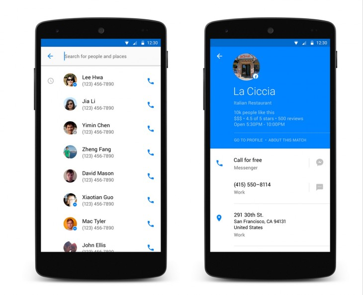 Hello 730x594 Facebooks latest attempt to own your phone: Its own Android dialler app