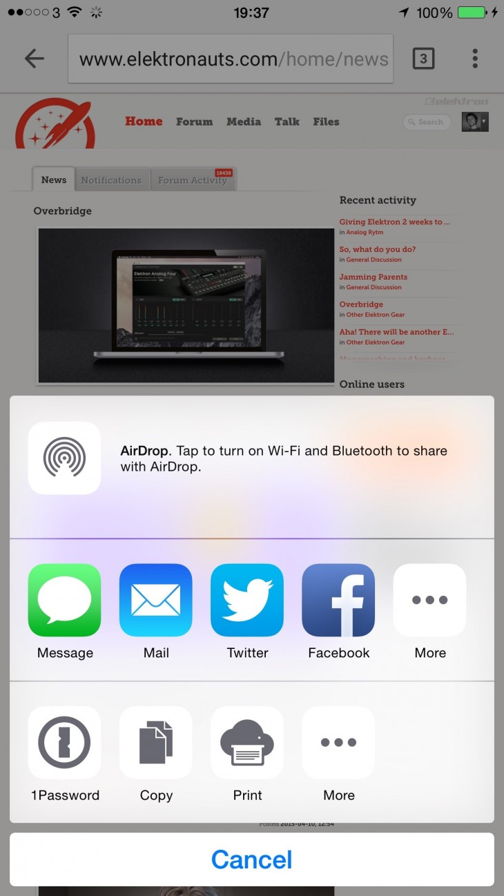 IMG 3101 730x1298 Chrome for iOS gets a Today View widget and app extension support