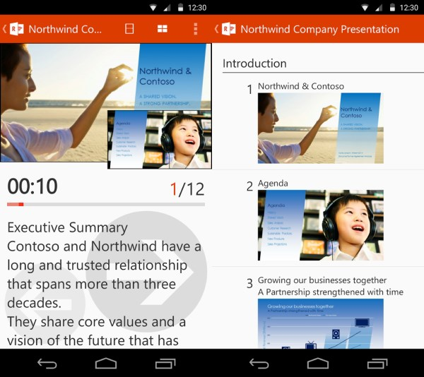 Office Remote Powerpoint Microsofts new app lets you control Powerpoint presentations with your Android device