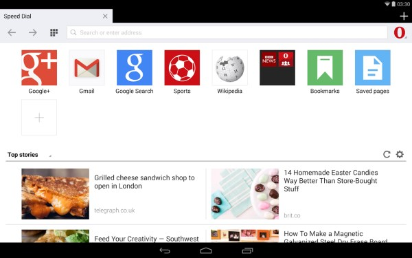 Opera Mini 2 Opera Mini for Android just got a lot better on larger devices