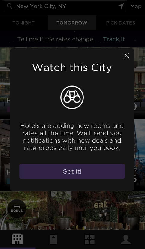 Screen Shot 2015 04 14 at 16.05.33 HotelTonight introduces rate tracking and brings back tabs in latest iOS update