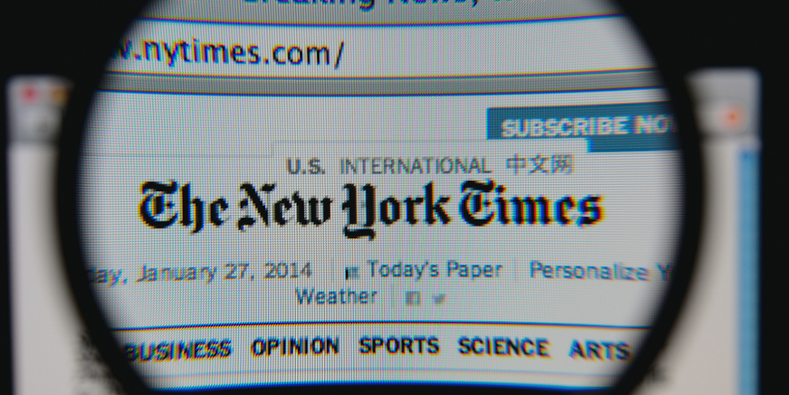 Don't miss the science section published each Tuesday. The New York Times gives you great stories in depth from around the world. It is the detailed stories and some investigative stories that you can't find anyplace else that are so refreshing to read.