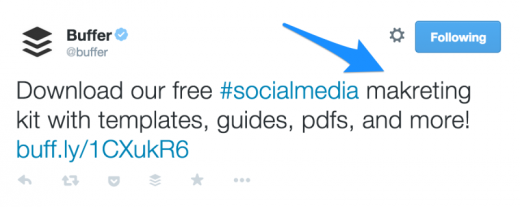 buffer tweet 800x319 520x207 The 12 point social media checklist for writing amazing posts