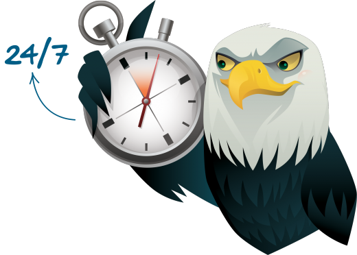 eagle with clock 520x372 The Web monitoring check list: What you should be watching