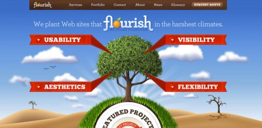 floridaflourish 520x255 How to create the right emotions with color in web design