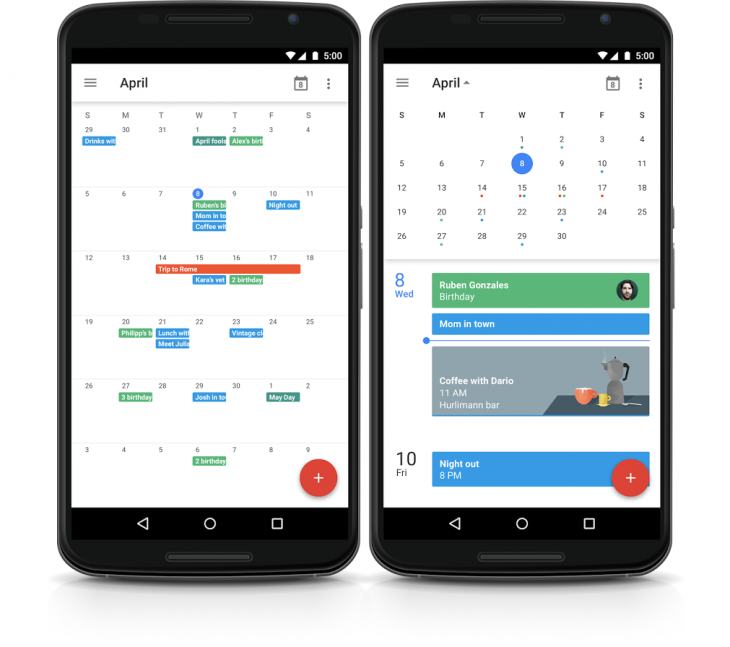 google calendar android month 730x647 Woohoo! Google is bringing month view back to Calendar for Android