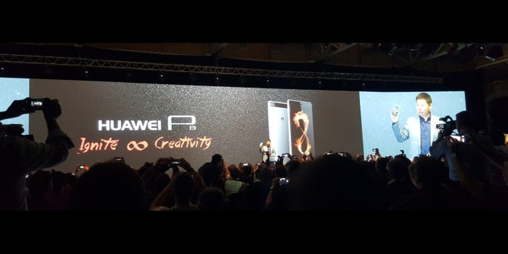 huaweip8 launch 730x365 Huawei launches flagship 5.2 Ascend P8 smartphone and 6.8 P8max phablet