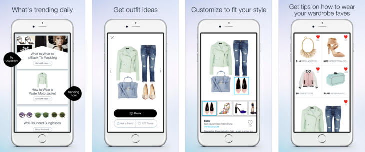 polyvore remix 730x305 Polyvore Remix app for iPhone seeks to be your personal stylist