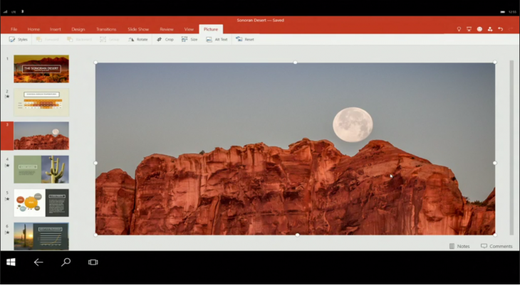 powerpoint windows 10 730x401 Everything Microsoft announced at Build Developer Conference 2015: Day 1