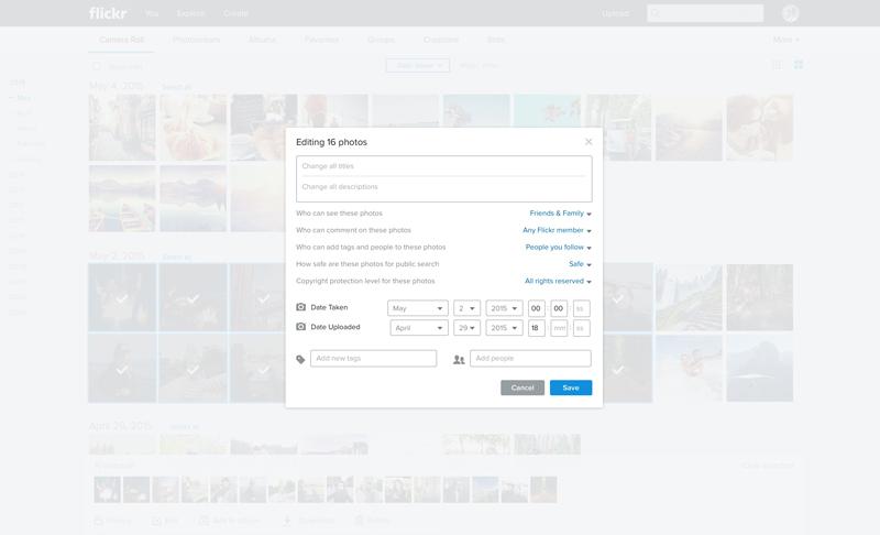 Fiickr Web Edit1 Massive Flickr overhaul coordinates new search, navigation, uploading and mobile app updates
