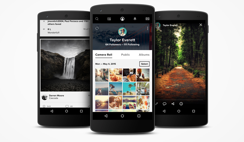Flickr Android1 Massive Flickr overhaul coordinates new search, navigation, uploading and mobile app updates