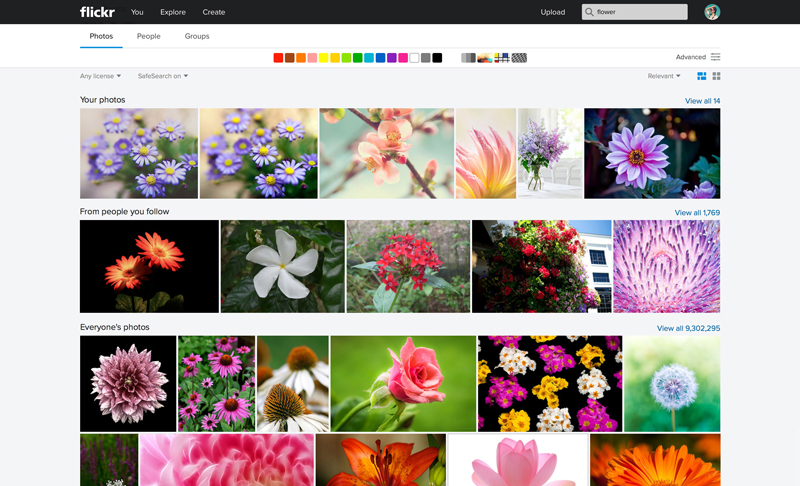 Flickr Web Search1 Massive Flickr overhaul coordinates new search, navigation, uploading and mobile app updates