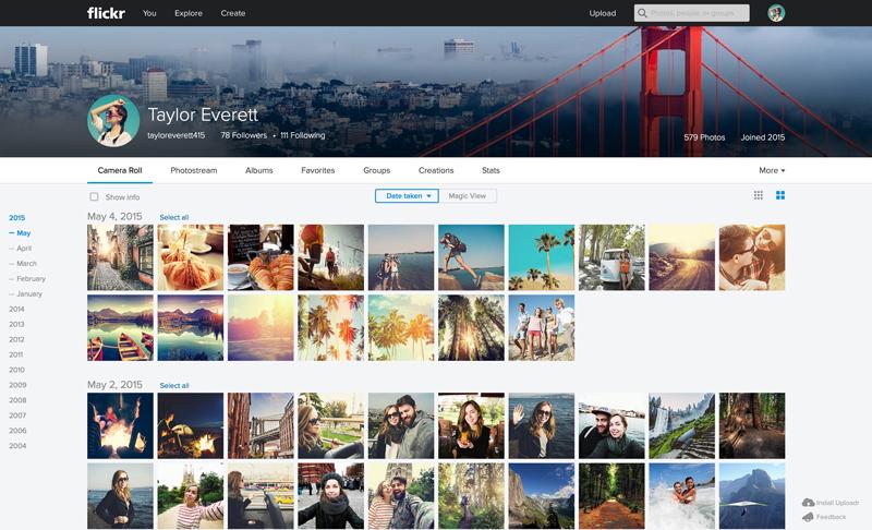 Flickr Web Camera Roll1 Massive Flickr overhaul coordinates new search, navigation, uploading and mobile app updates