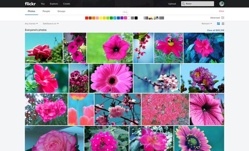 Flickr Web Color Search1 Massive Flickr overhaul coordinates new search, navigation, uploading and mobile app updates