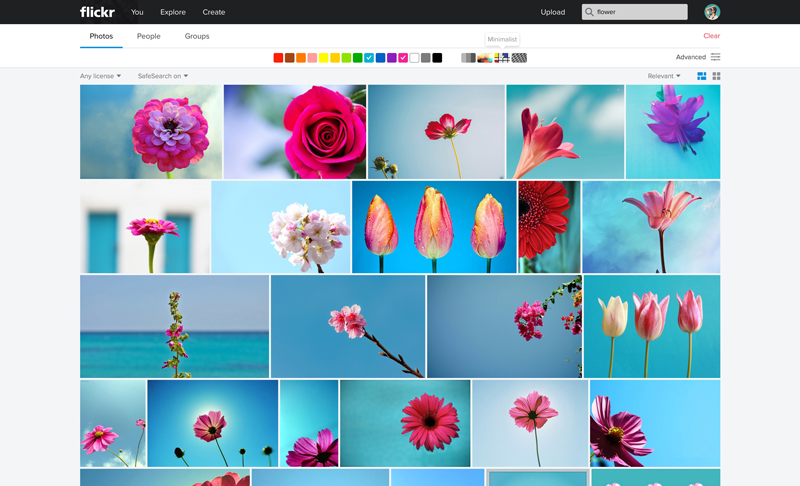 Flickr Web Color Search Minimal1 Massive Flickr overhaul coordinates new search, navigation, uploading and mobile app updates