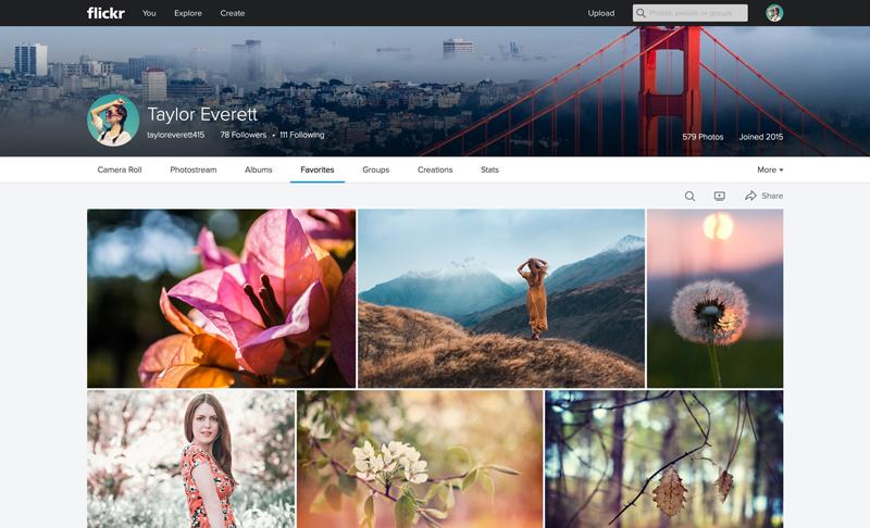 Flickr Web Favorites1 Massive Flickr overhaul coordinates new search, navigation, uploading and mobile app updates