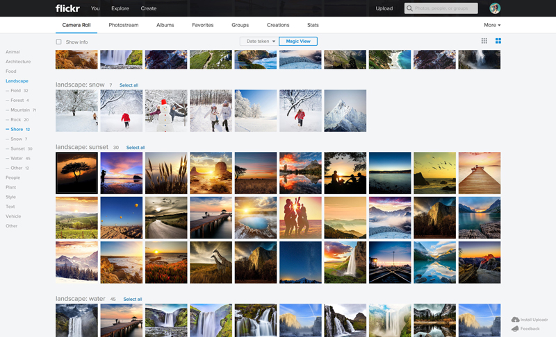 Flickr Web Magic Roll1 Massive Flickr overhaul coordinates new search, navigation, uploading and mobile app updates