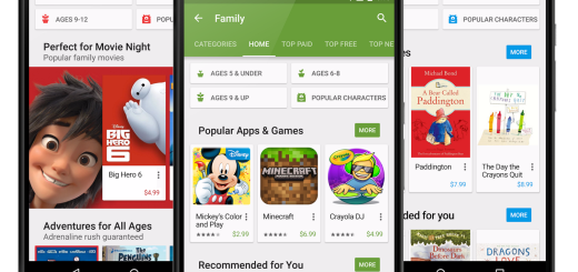 Google Play family screen