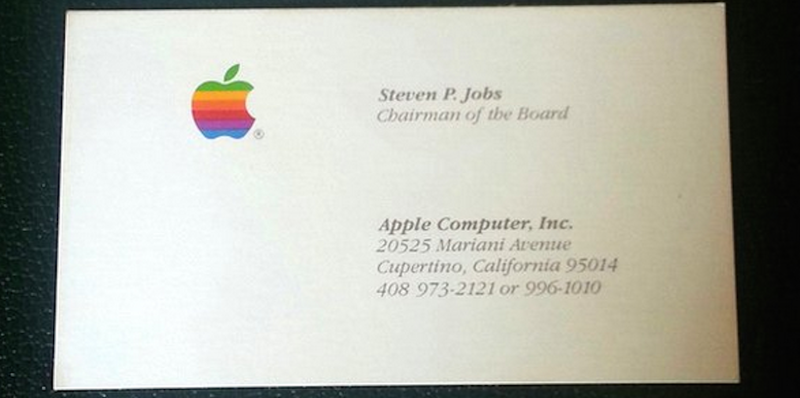 Got $3,000? You Could Buy Steve Jobsu0026#39; Business Cards