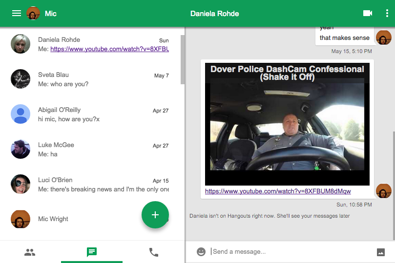 Google Hangouts Chrome app update makes it useful on a Mac, good for