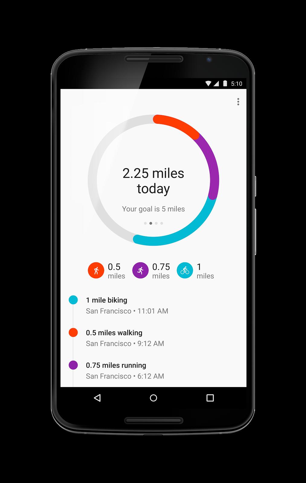 جوجل تحدث تطبيق مراقبة اللياقة Google Fit 1