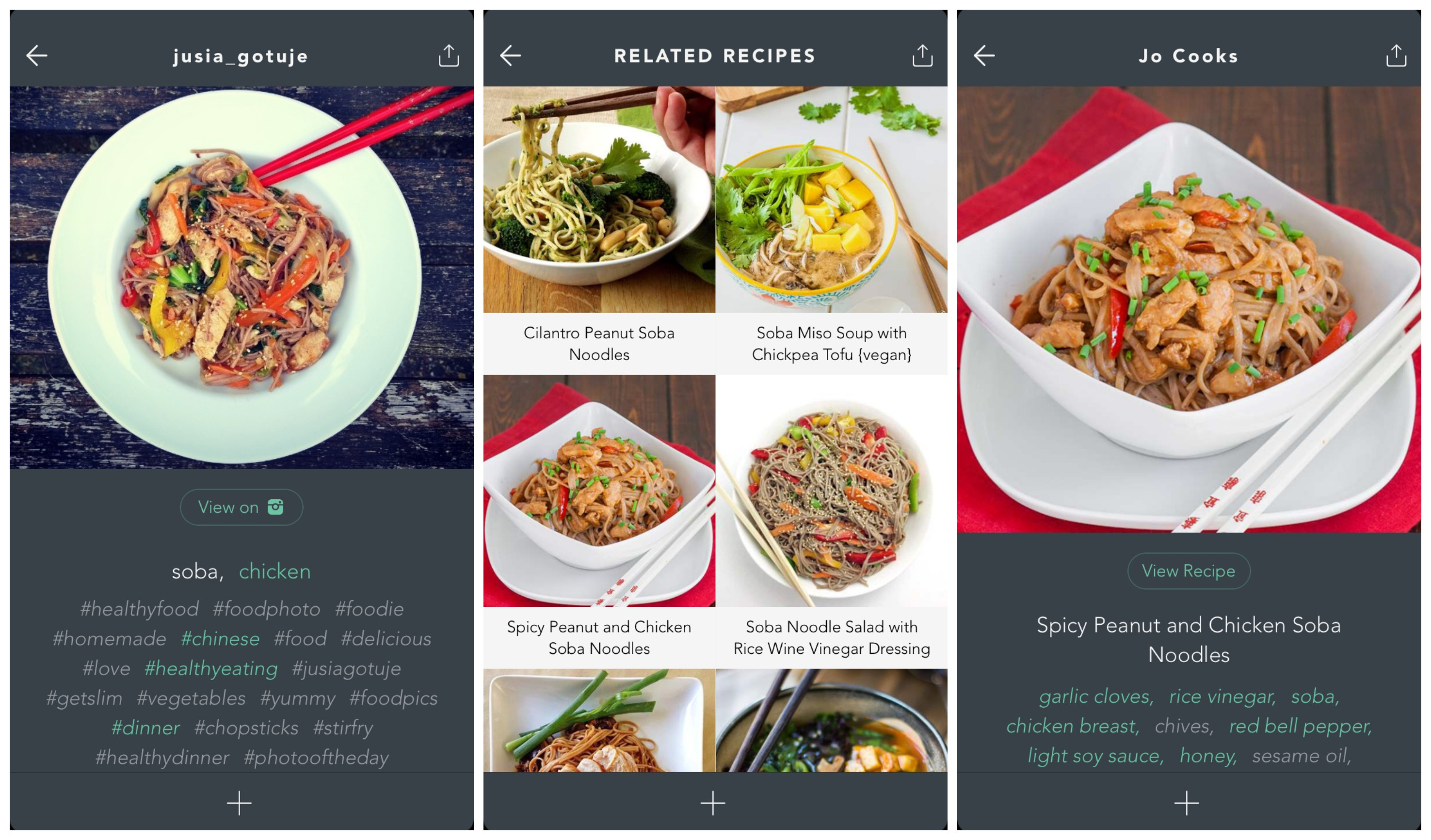 Handpick turns instagram into the worlds largest recipe book soba recipe match 2 forumfinder Choice Image