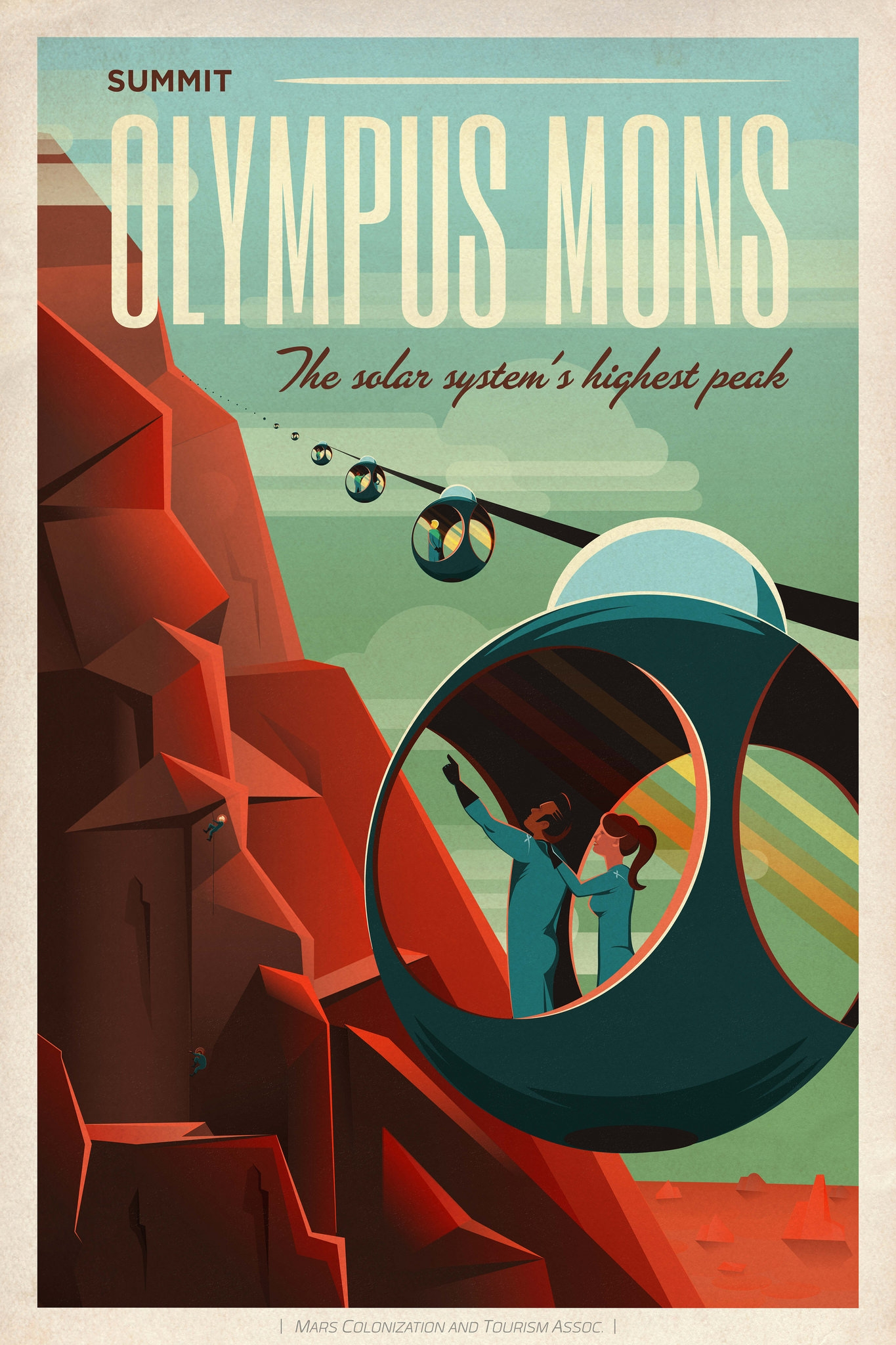 Spacex is inviting us to mars with some retro travel posters for Retro space design
