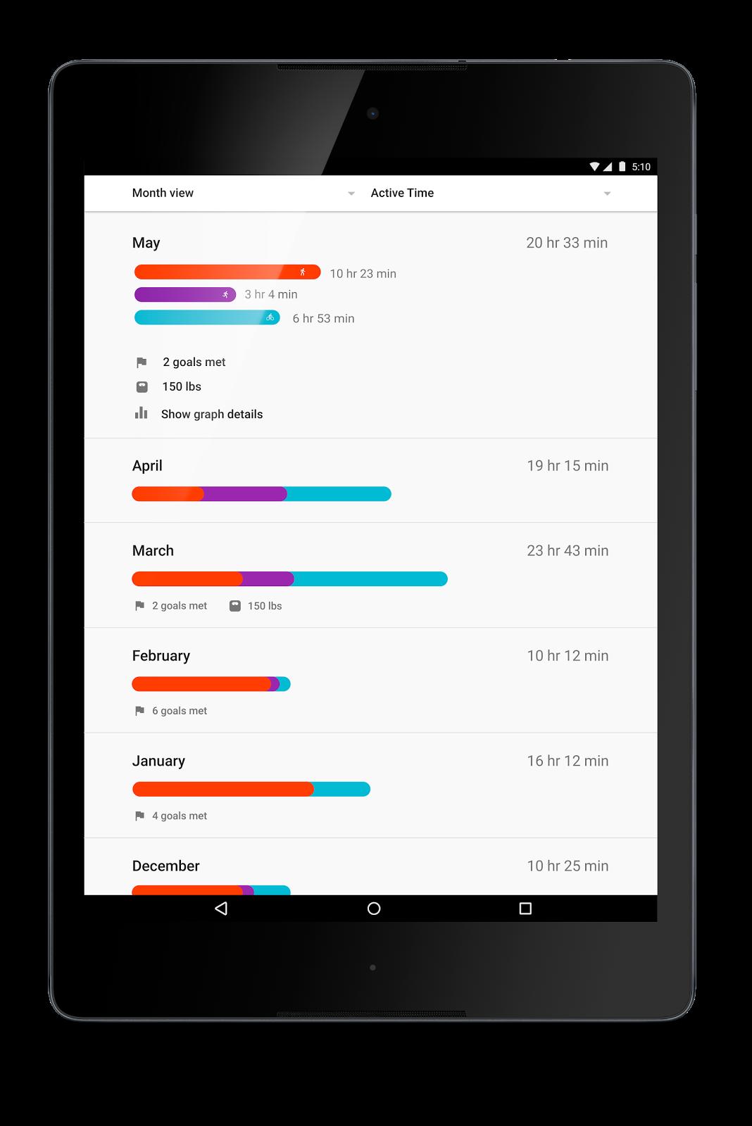 جوجل تحدث تطبيق مراقبة اللياقة Google Fit 2