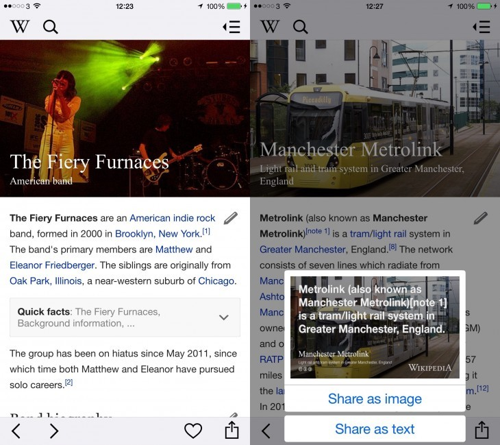 Wikipedia iOS 730x649 730x649 21 of the best iOS apps from April 2015