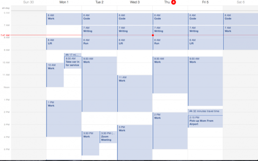 jeremeyschedule 1024x639 520x324 7 tricks for staying productive while working on the go