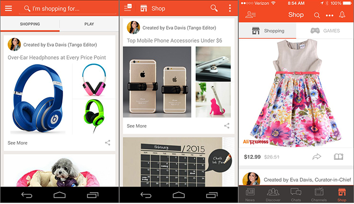 tango Tango messaging app now offers integrated shopping