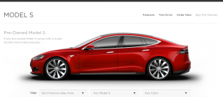 tesla used car marketplace
