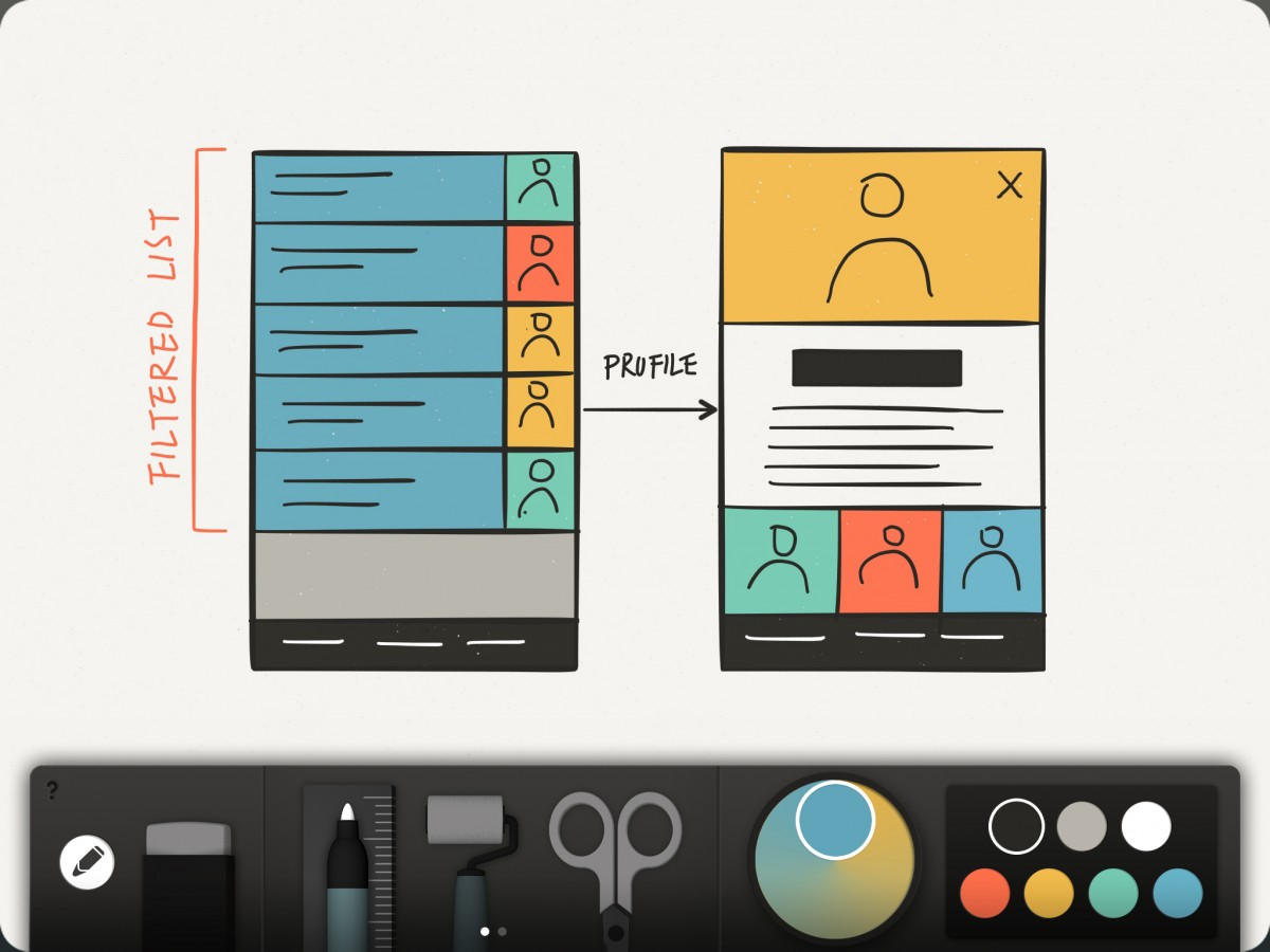 thinkkit wireframe 1200x900 FiftyThree debuts Think Kit toolset for its Paper iPad app