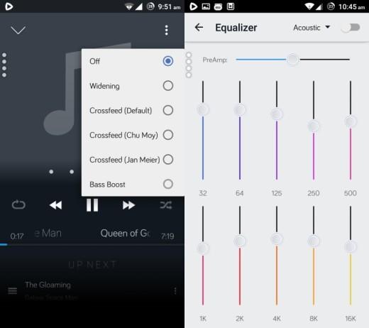 Audio options